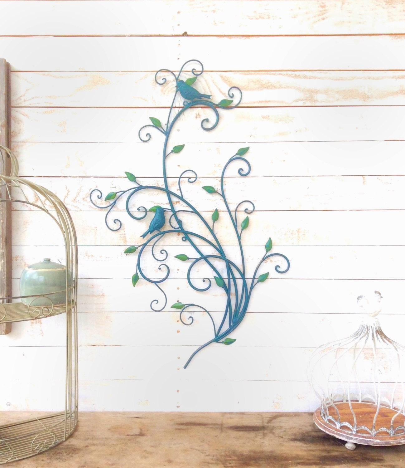 Iron bird wall decor home decor for the home wall art bird for Bird wall art