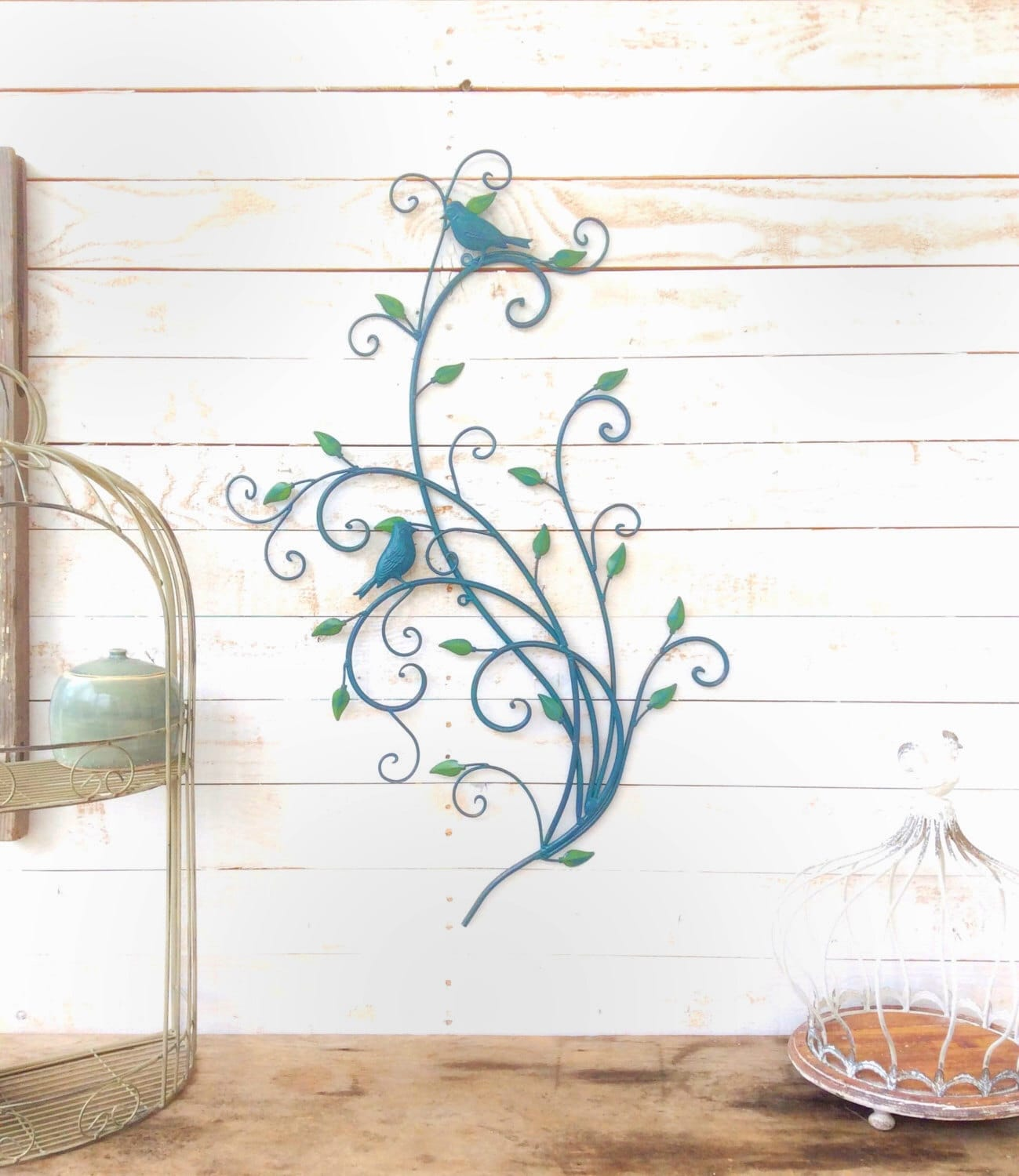 Iron bird wall decor home decor for the home wall art bird for Bird home decor