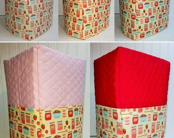 Quilted Strawberries & Jam Bread Machine Cover (5 Options Available)