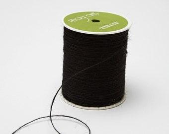 Black String Burlap Ribbon - 20 Yards