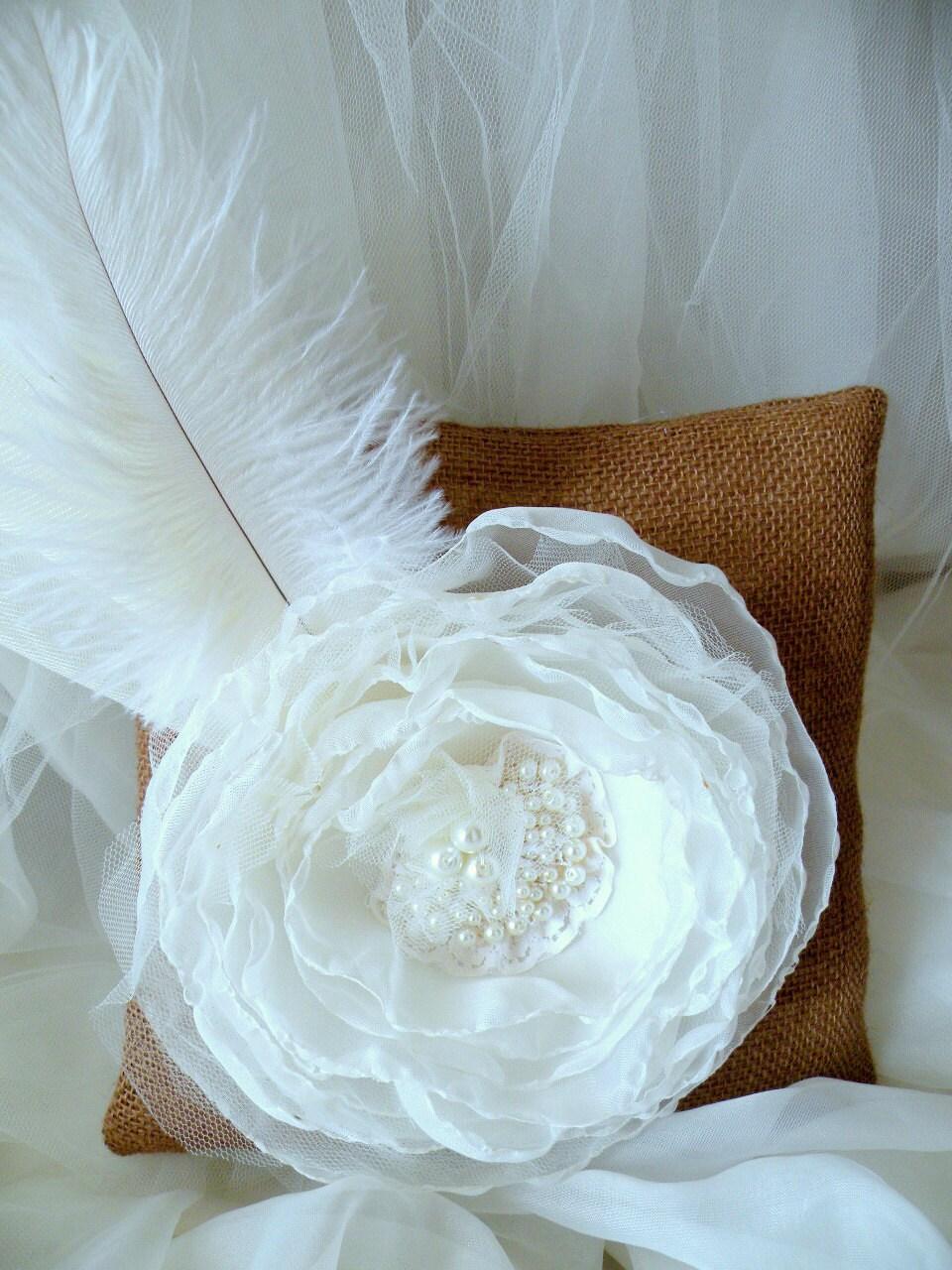 ring bearer pillow rustic wedding ivory ring bearer pillow