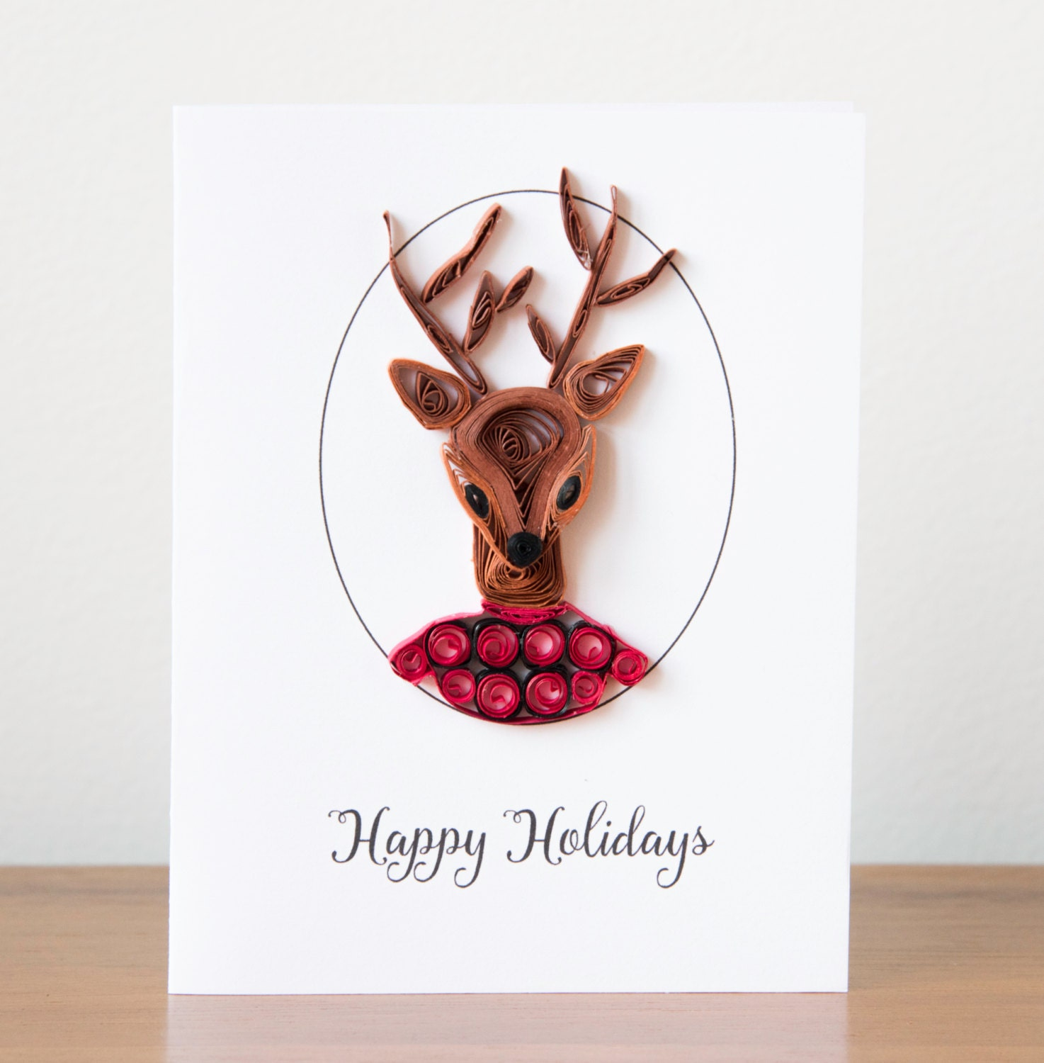 Unique christmas card funny animal greeting card reindeer for Cool xmas cards