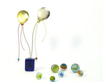 Cute desk office accessory,cute office decor, office ornament,metal art object,art sculpture,balloons paper weight,unique friends gift idea