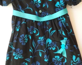 Girls' Short-sleeved Dress