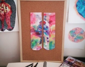 Stain & 'Absorb' printed socks - watercolor design