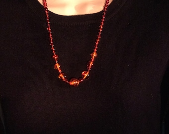 """23"""" Vintage Baltic Amber Necklace. Graduated 6, 8, 10 and 14mm. Polished Round Beads. free US ship 165.00"""