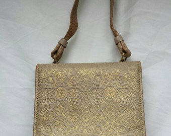 Birks vintage purse, vanity purse, make up bag, 1940's handbag, rare collectible fashion accessory.