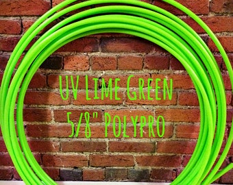 "Polypro Hoop(s) - UV Lime Green 5/8"" (BACKORDERED)"