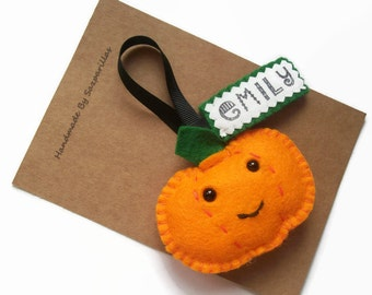 Personalised Halloween Decorations, Jack o Lantern Gifts for Boys, Felt Halloween Pumpkin Decor, Personalized Gifts for Girls