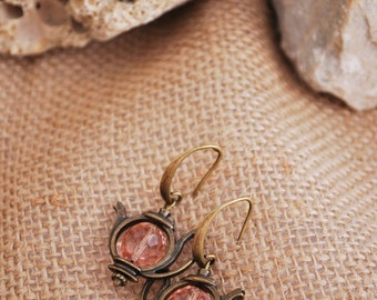 Teapot boho earrings, tea earrings, alice in wonderland,  tea party, teapot jewelry, tea pot earrings, dangle earrings.