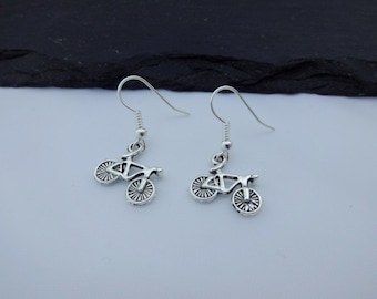 Bike Earrings, Cycle Earrings, Cycling Earrings, Bicycle Earrings, Charm Earrings, Bike Jewellery, Bike Gift, Cyclist Gift