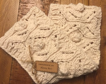 Chunky Infinity Scarf in Cream for Women