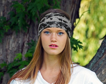 Wide Boho Headband | Yoga Headband | Womens black bohemian headwrap | Ladies fashion turban | Stretch headband
