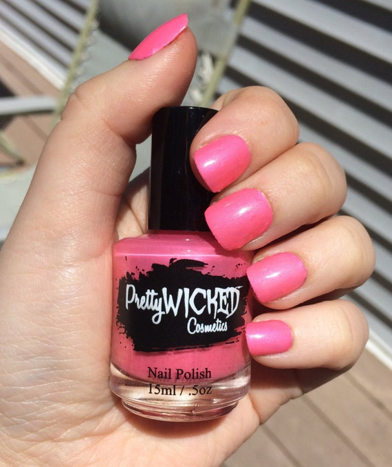 Pink Nail Polish Mini: Bubblegum Pink Nail Polish Mimi Polish Hot Pink Nail Polish