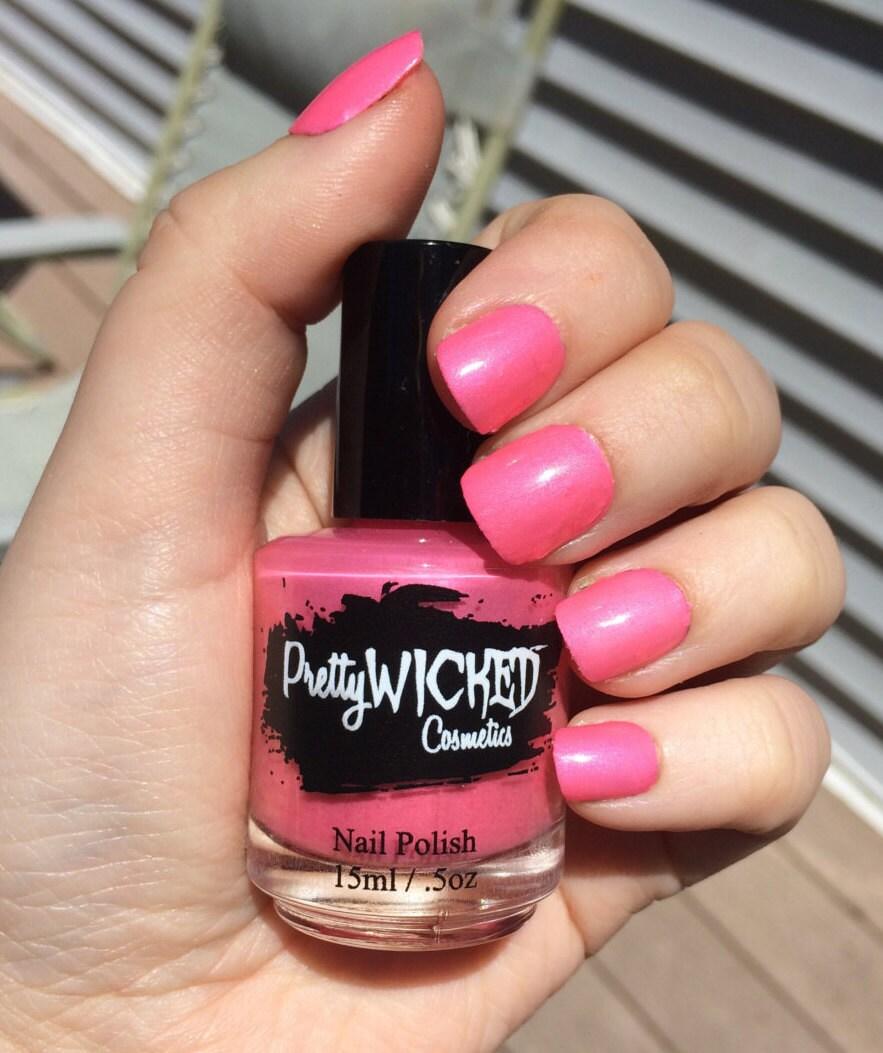 Pink Nail Polish Video: Bubblegum Pink Nail Polish, Mimi Polish, Hot Pink Nail
