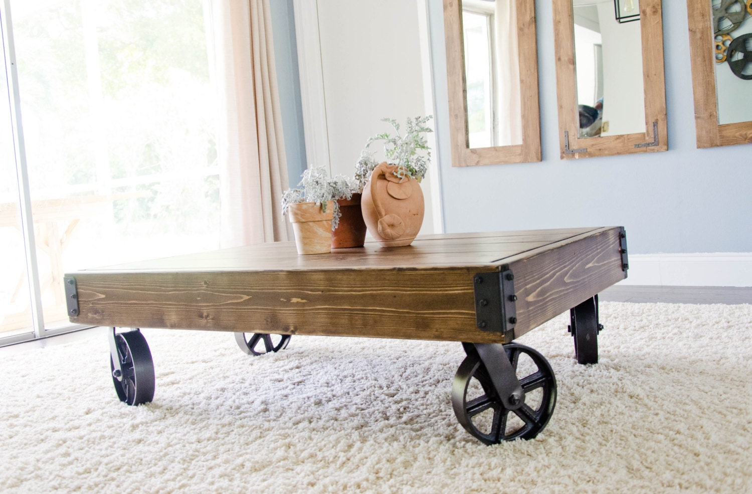 Factory Cart Industrial Coffee Table Factory Cart Coffee