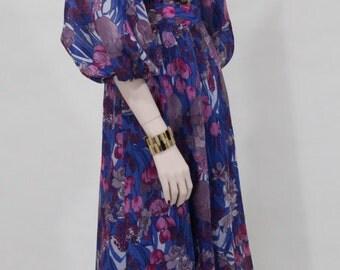 Evening dress / Maxi dress / 1970s vintage