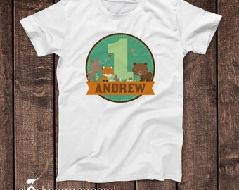 Fox Shirt Woodland Themed Birthday Shirt Toddler Tee Forest