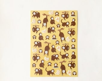 50% OFF CLEARANCE SALE - Monkey Stickers - Cute Monkey Stickers (was 3.20)