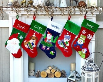 Fishing Christmas Stocking - Personalized