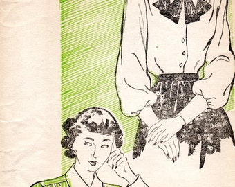 1940s Womens Blouse Pattern - Vintage New York 237 - Bust 34 FF