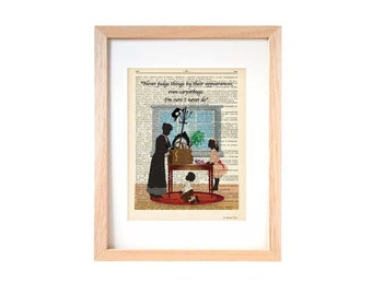 Mary Poppins print-Never judge things dictionary print-Nursery print-Poppins book art-Mary Poppins Dictionary-Christmas gift-NATURA PICTA