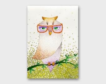 Owl watercolor Owl artwork Painting watercolor painting Corujas ilustração Bird drawing Bird painting Nursery art Bird watercolor Bird art