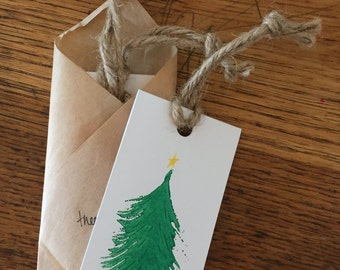 tree gift tags set of 3