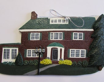 Custom made polymer clay house ornaments.