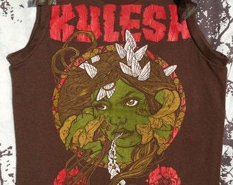 Kylesa fairy zombie flutter slv muscle girl baby kids shirt brown 5T OOAK
