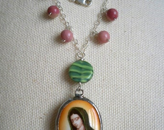 Guadalupe of the roses necklace