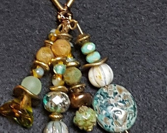 Necklace-Czech Beaded Charm