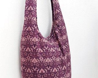 Women bag Handbags Thai Cotton bag Hippie bag Hobo bag Boho bag Shoulder bag Sling bag Messenger bag Tote bag Crossbody bag Purse Amethyst