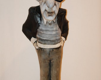 Woody Allen sculpture, large size, 85 cm, handmade figurine