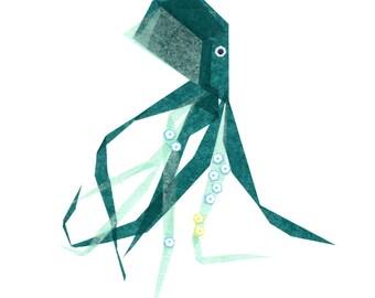 Otto Octopus  - Nautical Art Print