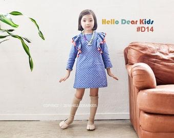 kids sewing pattern pdf/ girl's frill shoulder dress/ baby sewing pattern/ children clothing/Toddler sewing pattern/6M-6years