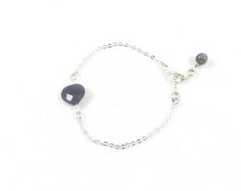 Heart Bracelet, Tiny Heart Bracelet, Silver Heart Bracelet, Delicate Jewelry, Dainty Jewelry, Minimalist Jewelry, Bracelets for Women