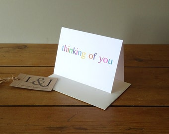 Thinking Of You Card - Sympathy Card - Just Because Card - Miss You Card - I Miss You Card - Grieving Card - Long Distance - Thinking Of You