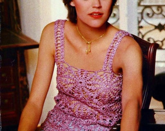 Lace Camisole and Shawl Vintage Crochet Pattern Download