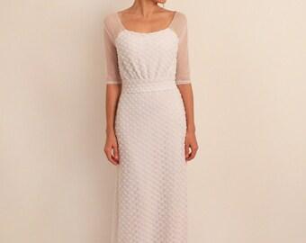 Boho Wedding Dress Retro Elegant Gown Romantic