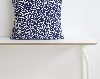 "Dots Pillow indigo blue/nude Decorative Pillows Grid Pillow Grey Pillow Cushion covers 18"" x 18"""