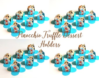 PINOCCHIO TRUFFLE DESSERT Holders, Party Favors, Pinocchio Chocolate Holders,Pinocchio Cups,Brigadeiro part Forminhas,Thank you Boxes, Cups.