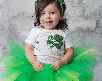 St Pattys Day Tutu Outfit, Green Tutu, St Patricks Day Tutu, St Pattys Day Onesie, First St Pattys Outfit, Baby Tutu, Toddler Tutu