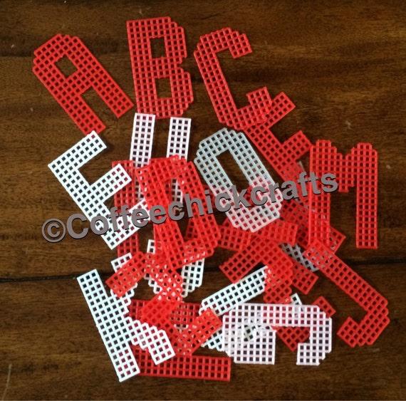 Plastic Canvas Uppercase Alphabet 2.5 Tall Plastic