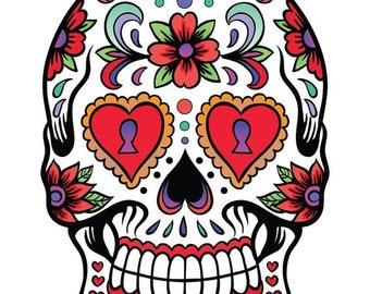 ON SALE Sugar Skull - pop art - 138 x 197 stitches - Cross Stitch Pattern Pdf - INSTANT Download - B685