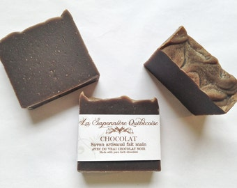 Savon Chocolat, Savon artisanal fait main 100% naturel, Chocolate Soap, Cold process All Natural Handmade Soap