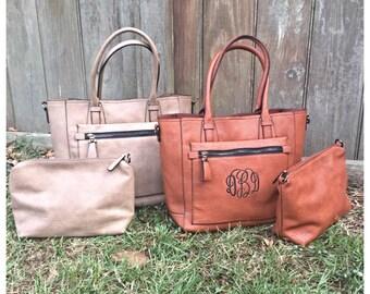 Monogrammed 2 in 1 purse/ handbag/ womens purse