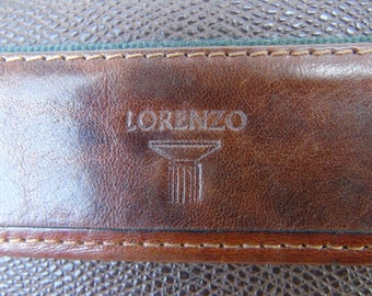 Vintage brown leather, Lorenzo, wallet/card holder, with co-ordinating leather bindings.  No sign of wear.