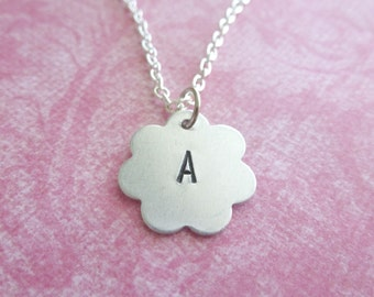 Initial Necklace Gifts for Her Personalized Jewelry Hand Stamped Necklace