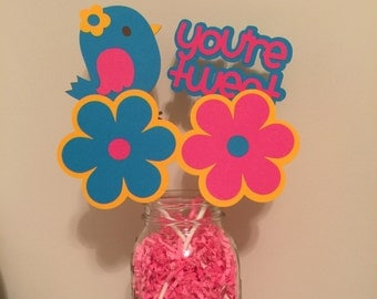 4 pcs Tweet Bird Centerpieces, Tweet Bird Baby Shower, Tweet Bird Decoration, Tweet Birthday Birthday, Tweet Bird Party